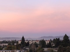"""""""Red Sky in the Morning. . . """" (Melinda * Young) Tags: sunrise red clouds bridge goldengate west morning early bay mountains distance view vista bayarea berkeley"""