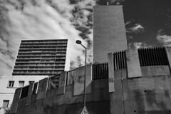the post (Rasande Tyskar) Tags: marseille residential building buildings tower flats flat block blocks haus wohnhaus häuser batiment france frankreich sw bw monochrome schwarzundweis blackandwhite