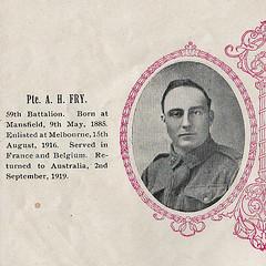 Albert Henry Fry  #2663 (Aussie~mobs) Tags: ww1 anzac mansfield victoria firstworldwar soldier aif alberthenryfry 5thdivisiontrafficcontrol 59thbattalion lestweforget
