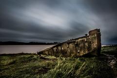 beached... (Jess Feldon) Tags: leebigstopper decay boatgraveyard wrecks gloucestershire purtonhulks longexposure le riversevern severnestuary sky boat jessfeldon