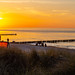 Zingst Beach Sunset with glasses and