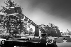 Boys Toys (Geoff Eccles) Tags: tank cantignypark illinois barrel snoopy 1stdivision mono blackwhite