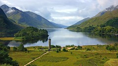 Glenfinnan monument (WISEBUYS21) Tags: jacobite loch shiel glenfinnan monument green grass still water trees pathway mountains bonnie prince charlie young pretender king over seas scotland brave highlander national trust for harry potter viaduct mike tomkies express cloud mist reflection stunning landscape beautiful