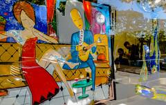 2018-09-27 - Jeudi - 270/365 - Tailler la zone - (Alain Souchon) (Robert - Photo du jour) Tags: 2018 septembre france coiffeur tableau œuvre regard travailler taillerlazone alainsouchon salondecoiffure