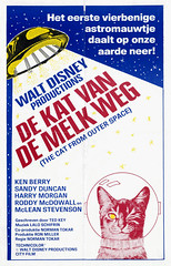 Netherlands poster for The Cat From Outer Space (1978) (gameraboy) Tags: netherlands poster thecatfromouterspace 1978 cat space spacecat 1970s vintage disney vintagedisney posterart movieposter ufo art illustration