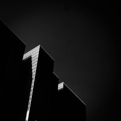 De Rotterdam (morbs06) Tags: derotterdam oma remkoolhaas rotterdam verticaltown abstract architecture building city diagonal facade geometry highrise light lines repetition shadow square stripes bw