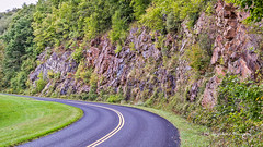 Rocky Road (augphoto) Tags: augphotoimagery blueridgeparkway blacktop curve green highway hwy pavement road rock trees vegetation waynesville northcarolina unitedstates