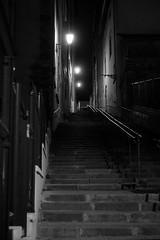 Ruelle Lyon (pierrpich) Tags: ruelle street escalier stairway lyon nuit blackandwhite noiretblanc