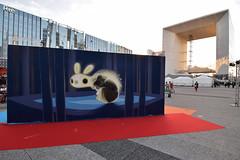 Dream (HBA_JIJO) Tags: streetart urban graffiti animal art france hbajijo painting peinture street spray paris92 urbain view undergroundeffect ladéfense arche projetsaato festival animalitoland puteaux dormir