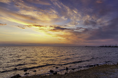 Sunset (KostasTsiaousis) Tags: sunset sea seascape bythesea clouds greece thessaloniki canon 24105 stm