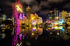 Macao, Casino district (werner boehm *) Tags: wernerboehm macao reflection nightshot cityscape china