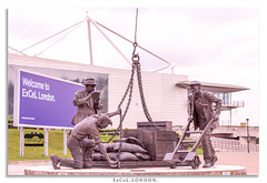 ExCeL London. (Abedin's clicks) Tags: excel london statue uk past people cloudysky
