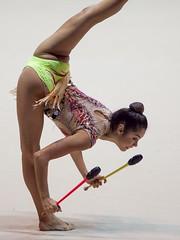ALEXANDRA AGIURGIUCULESE (Luigi_1964) Tags: ritmica desio nazionale paladesio alexandraagiurgiuculese italy rhythmicgymnastics ginnasticaritmica sport girl clavette