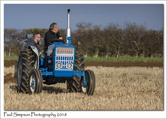Father and Son, plus tractor (Paul Simpson Photography) Tags: sonya77 ford ford3000 tractor ploughing farming farm field paulsimpsonphotography october 2018 autumn hedgerow sunshine bluesky imagesof imageof photoof photosof ploughingmatch ploughingtournament northlincolnshire machinery