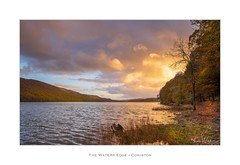 The Waters Edge - Coniston (Ken Walker Photography) Tags: sunset water clouds lake cumbria colours autumn