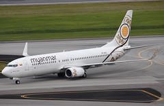 XY-ALG SIN 07.02.2018 (Benjamin Schudel) Tags: myanmar air boeing 737800 xyalg sin singapore changi international airport
