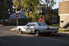 '66 Ford (Curtis Gregory Perry) Tags: portland oregon 1966 ford custom 500 sedan blue old classic vintage car auto automobile nikon d810 stop sign automóvil coche carro vehículo مركبة veículo fahrzeug automobil