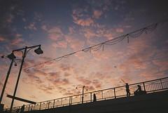 (natallia_asavitskaya) Tags: sunset clouds awesome nature bridge belarus pink minsk nikonaf240sv film 35mm sky kodak