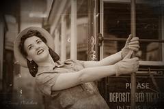 'LILLIE' (tonyfletcher) Tags: crichtramwayvillage crichtramwayvillage1940s crichhomefrontevent crich 1940s 40s tonyfletcher wwwtonyfletcherphotographycouk wwwwhitbygothscenecouk 1940sevent portraits homefront ww2
