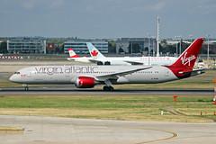 G-VFAN Boeing 787-9 Virgin Atlantic Airways LHR 09SEP18 (Ken Fielding) Tags: gvfan boeing b7879 virginatlanticairways aircraft airplane airliner jet jetliner dreamliner widebody
