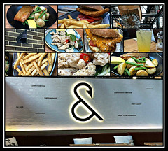 2018 Sydney lunch: Fish & Co collage (dominotic) Tags: 2018 tramsheds food lunch fishco sustainablefishcafe 1904rozelletramdepot innerwestsydney architecture history dining shopping industrialmakeover iphone8 sign collage yᑌᗰᗰy foodcollage tramshedsharoldpark sydney australia