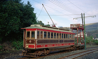 N004_26_230296 - Manx Electric Railway Car 6 and Tower Wagon