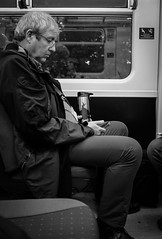 2018_261 (Chilanga Cement) Tags: fuji fujix100f fujifilm bw blackandwhite monochrome train commute commuter reflections reflecting reflection reflective