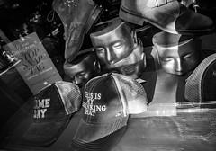 Head Trip Hat Trick (World View...Human Touch) Tags: cerrado window a6300 reflections sony windows sanwarzoné mannequins mwarzone plaza eldorado newmexico art scupture artwork sanwarzone santafe places graffiti