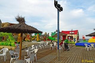 Playground, beach of Argelès (France).