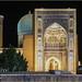 Gur Emir Mausoleum At Night