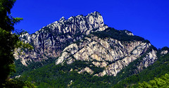 Rocky Peaks at Huangshan : Spring afternoon . . . 黄山玉屏索道站上望 (Clement Tang **busy**) Tags: travel china anhuiprovince yellowmountain huangshan springafternoon concordians closetonature nature nationalgeographic cplfilter handheldhdr unescoworldheritagesite scenicsnotjustlandscapes 玉屏索道上望 黄山 中國安徽省 bluesky 玉屏峰 landscape pinetree
