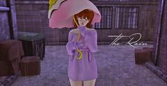 #196 - The Rain (rhavena.rasmuson) Tags: rain gacha cute pink pinkgirls kawaii yokai umbrella sanarae follow4follow follow4followback fav4fav fashion like4like lolita cutegirl taketomi redhead lights