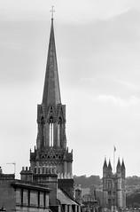 Bath Steeple (chabsh123) Tags: bath england abbey steeple bw