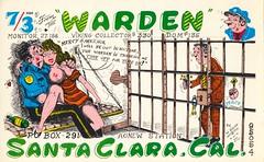 The Viking: The Warden - Santa Clara, California (73sand88s by Cardboard America) Tags: qsl qslcard cb cbradio vintage california theviking dirty