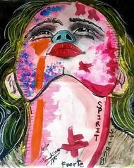 Bea (franck.sastre) Tags: art colors painting streetart femme eyes lips face