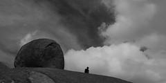 Paarl Rock (Campingandhiking) Tags: paarl paarlrock blackandwhite granite hiker clouds bigsky sky
