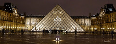 a museum in Paris (albyn.davis) Tags: louvre pei pyramid night light lights dark paris france europe travel architecture buildings panorama vacation museum hdr