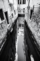 long way down (Francis Mansell) Tags: building architecture canal water reflection venezia venice monochrome blackwhite niksilverefexpro2