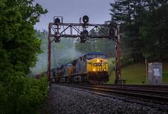 Rain on Thelma (WillJordanPhoto) Tags: crr csx trainsportation trains thelma bigsandy bobbs co railroad signal mountains kentucky coal