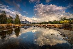 Tuolumne Cloudscape (TomGrubbe) Tags: tuolumnemeadows tuolumneriver fall autumn lembertdome clouds reflection yosemite california landscape