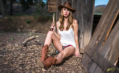 Pretty Green Eyes! Beautiful Cowgirl Model Goddess Gold 45 Revolver Cowboy Boots Cowboy Hat Country Woman!  White Summer Dress! Tan Cowboy Boots Leather Cowboy Hat Gold 45 Revolver Lingerie!  dx4/dt=ic 45EPIC Sony A7 R 55mm Carl Zeiss F1.8 Prime Lens (45SURF Hero's Odyssey Mythology Landscapes & Godde) Tags: pretty green eyes beautiful cowgirl model goddess gold 45 revolver cowboy boots hat country woman white summer dress tan leather lingerie dx4dtic 45epic sony a7 r 55mm carl zeiss f18 prime lens