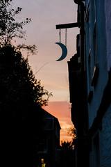 A Cambridge Sunset (Sir Cam @camdiary) Tags: moon crescent littlestmarys sunset cambridge pub