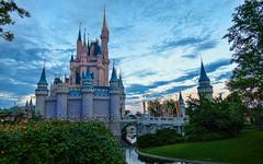 Cinderella Castle at Dusk - Magic Kingdom (Curtis Lannom) Tags: magickingdom castle wdw vacation mainstreet magic disney