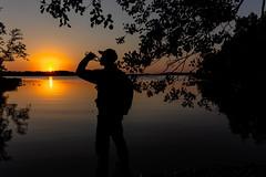 drinking water and sunset (VisitLakeland) Tags: finland kuopio lakeland summer auringonlasku backlight evening järvi kesä lake luonto maisema nature outdoor scenery sunset vastavalo water