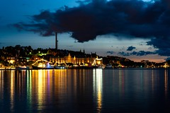 Colour (ramvogel) Tags: sony a6300 sony18105mm stockholm sweden water night colour scandinavia ship reflection clouds longexposure