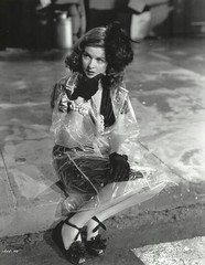 Joan Bennett in clear vinyl raincoat (Vinyl Beauties) Tags: joan bennett clear vinyl pvc plastic raincoat coat sexy fashion beauty style 1945 1940s vintage