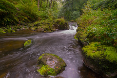 Islands in the Stream (daviddalesphoto) Tags: watersmeet exmoor devon river waterfall cascade
