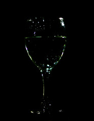 I like it black (Debmalya Mukherjee) Tags: debmalyamukherjee canon550d 50mm wineglass black lowkey