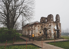 P1010197-2 (angelina.solberg) Tags: russia stpetersburg spb autumn medieval castle ruins architecture north ancient mysterious slavic fog foggy fortress green cemetery abandoned