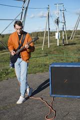 (Boris Zhigun) Tags: belarus baranavichy xmount fujifilm xe1 portrait musician cabinet bass bassman bomber sky construction grass sneakers rope posts clouds philpro